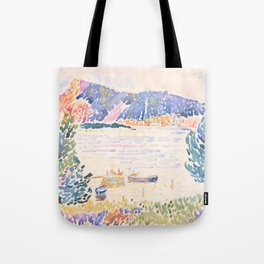 Cap Nègre by Henri-Edmond Cross 1909 French Cottage Mountain Country and Farmhouse Aesthetic Tote Bag