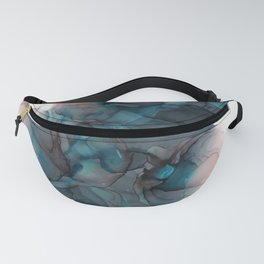 Pitch Black Alcohol Ink Painting Fanny Pack