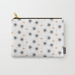 Spiders & Webs-White Orange Carry-All Pouch