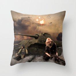War Never is Good Throw Pillow