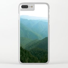 Summer Hues Smoky Mountains Painting National Park Art Mountain Nature Forest Landscape Clear iPhone Case