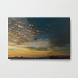 Viewing the Sunset Metal Print