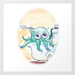 Scrub-A-Dub-Dub Art Print