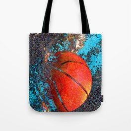 Basketball art swoosh vs 74 Tote Bag