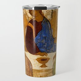 Holy Trinity Icon Byzantine Orthodox Rublev Holy Angels Christmas Gift Travel Mug