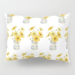 Yellow Cosmos, Still Life Pillow Sham