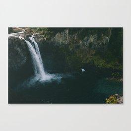Twin Peaks Water Fall Canvas Print