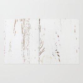 Vintage White Wood Rug