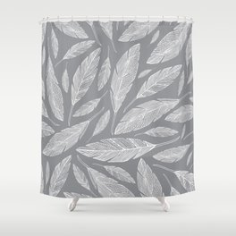Float Like A Feather - Grey Shower Curtain