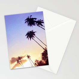 Love Palm Trees Coast  - Colorful Seaside Landscape Sunset Stationery Cards