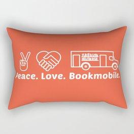 Peace. Love. Bookmobile Rectangular Pillow