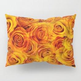 Grenadier Tangerine Roses Pillow Sham