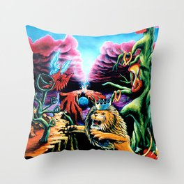 Trippy Psychedelic Visionary Art by Vincent Monaco -The Wrath Throw Pillow