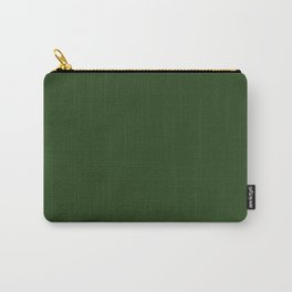 Solid Dark Forest Green Simple Solid Color All Over Print Carry-All Pouch