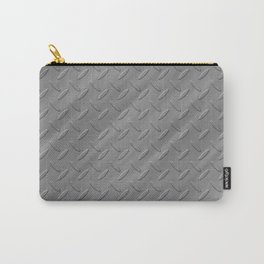 Metal - Silver checker plate Carry-All Pouch
