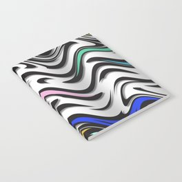 Trippy Waves In Urban Abstract Notebook