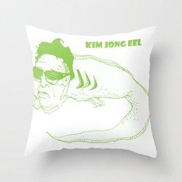 Kim Jong Eel Throw Pillow