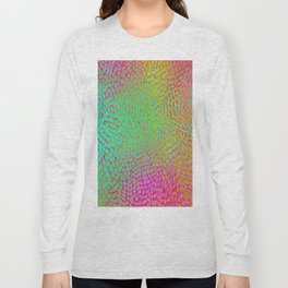 shifting dots in bright color Long Sleeve T-shirt