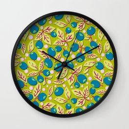 Blueberry Preserves Wall Clock