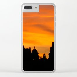 London Sunset in sillouette bywhacky Clear iPhone Case