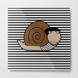 French Snail ~ Escargot Metal Print
