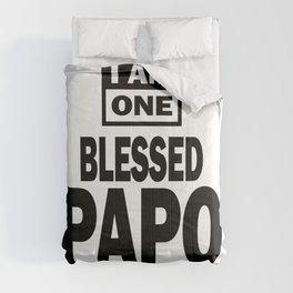 Mens I Am One Blessed Papo Fathers Day Gift Comforters