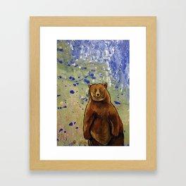 Alert Bear Framed Art Print