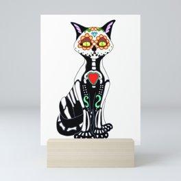 Sugar Skull Kitty Cat Mini Art Print