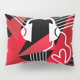 Red Love Gamer Headset Pillow Sham