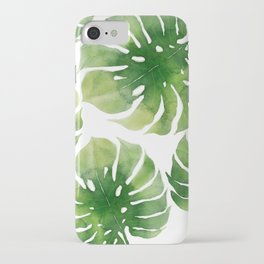 Monstera watercolor I iPhone Case