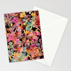watercolor meadow black Stationery Cards