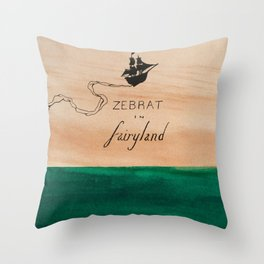 Zebrat in Fairyland - Album Art Throw Pillow
