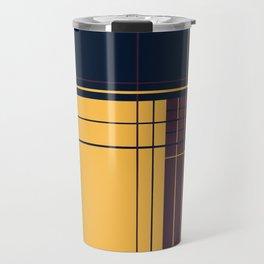 Abstract graphic I Dark blue Purple Yellow Travel Mug