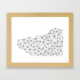 Polygon Framed Art Print