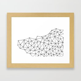 Polygon Framed Art Print