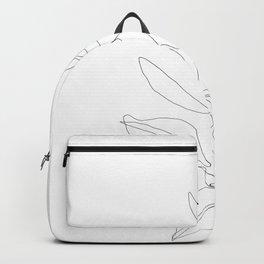 One line minimal plant leaves drawing - Birdie Backpack