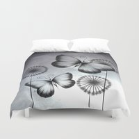 butterflies Duvet Covers featuring Butterflies by LouJah