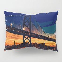 San Francisco Skyline at Night Pillow Sham