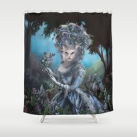 marie antoinette Shower Curtains featuring Marie Antoinette by Christina Hess