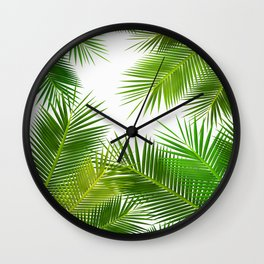 COCONUT Leafs pattern iPhone 4 4s 5 5c 6 7, pillow case, mugs and tshirt Wall Clock
