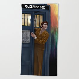 10th Doctor Shockface Beach Towel