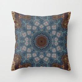 Shibori Blue Throw Pillow