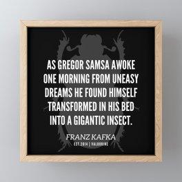 29  |  Franz Kafka Quotes | 190517 Framed Mini Art Print