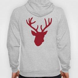 Deer Head: Red Hoody