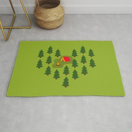 Camping Love Rug