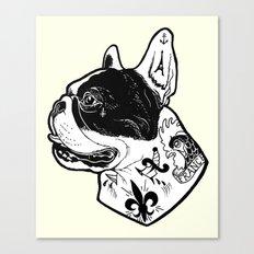 French Bulldog Tattooed Dog Canvas Print