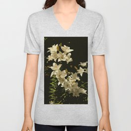 Lily Abstract Unisex V-Neck