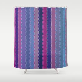 Multi-faceted decorative lines 3 Shower Curtain