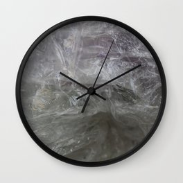 foil cloud wrinkle structured surface Wall Clock