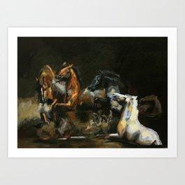 The Horses of Roan/ Scorpio Races Art Print